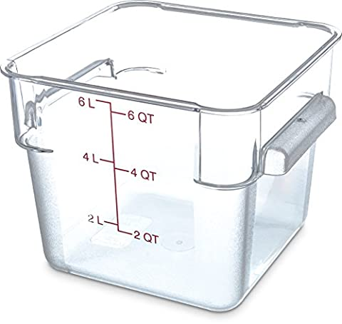 Carlisle 1072207storplus Récipient, 6-Quart, transparent