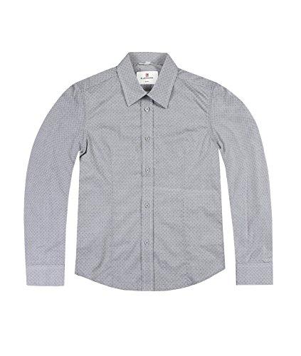 Lemmi Jungen Hemd 1/1 Arm Slim, Grau (Folkstone Gray 1540), 128 Preisvergleich