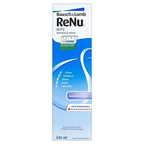 Bausch & Lomb Renu MPS Solution multi-usage pour lentilles de contact – 240 ml