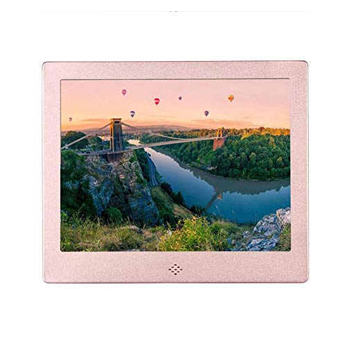 WANGOFUN 8-Zoll-digitaler Bilderrahmen unterstützt Bild-Musik-Video-Player mit Fernbedienung MP3-Kalender-Kalender-Wecker,Pink