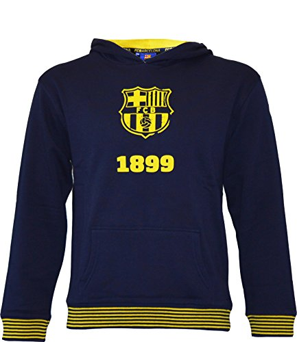 Fc Barcelone Sweat Capuche Barça - Collection Officielle Taille Enfant