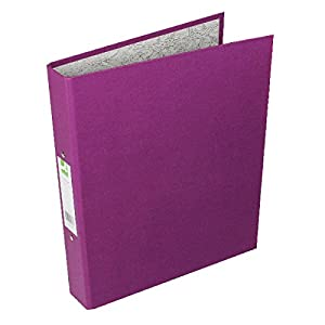 Q-Connect KF01475 2-Ring Binder A4 25mm Paper-Backed Purple-Pack of 10