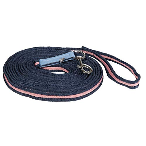 HKM SPORTS EQUIPMENT Longe Softlonge 8m Rauchblau/dunkelblau/pink (3960)