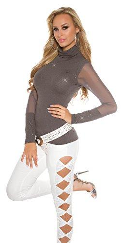 In-Stylefashion - Sweat-shirt - Femme gris gris foncé taille unique gris foncé