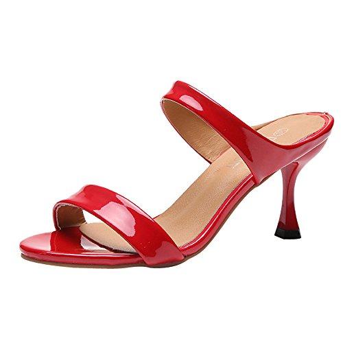 Party Schuhe Damen Mit Absatz UFODB Frauen Stilettoabsatz Highheel-Sandalen High Heels Block Offene Zehen Brautschuhe Freizeitschuhe Tanzschuhe ()