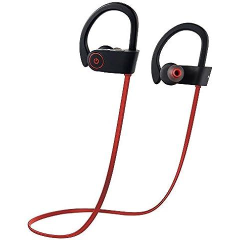 Yueji NUOVA VERSIONE auricolari wireless Bluetooth cuffie nominale fino a 8ore tempo di riproduzione