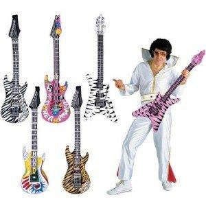 Preisvergleich Produktbild 300304 Widmann aufblasbare Gitarre, Zebra pink