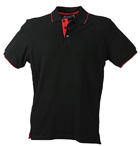 Campus Polo im digatex-package Black/Red