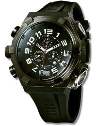 Offshore Limited 001 C - Reloj cronógrafo de cuarzo para hombre con correa de silicona, color negro