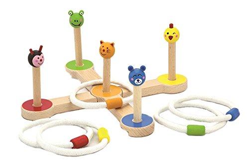 Viga Toys - 50174 - Jouet De Premier Age - Jeux D'anneaux - Animaux
