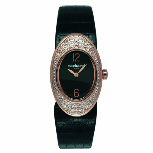 Cacharel CLD 008S-2AA Women's Analogue Quartz Watch with Leather Strap