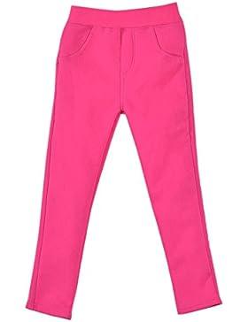 Niña Leggings Cintura Elástica Pantalones De Lápiz Plus Espesamiento Jeggings Leggins Rose 110CM