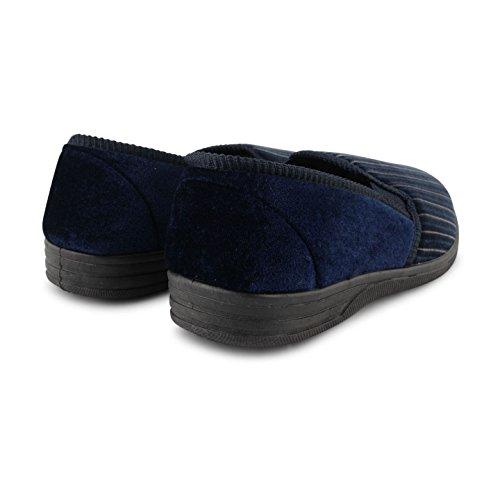 Footwear Sensation ,  Herren Flache Hausschuhe Albert Navy