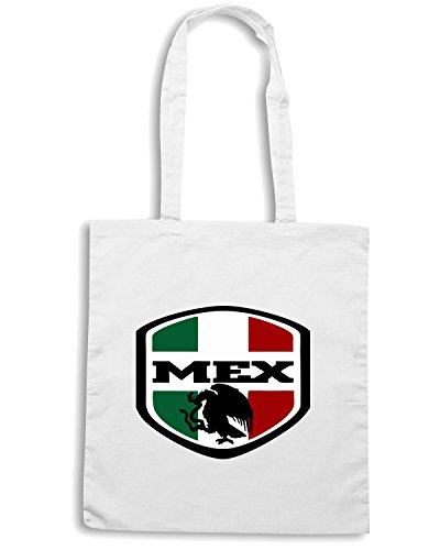 T-Shirtshock - Borsa Shopping WC0138 MESSICO MEXICO Bianco