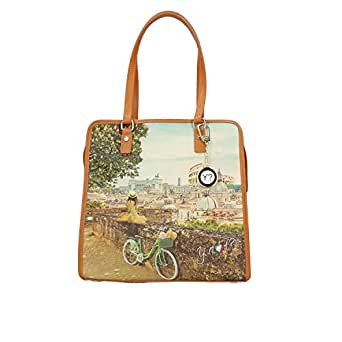 bdfbf460fb YNOT? L-327 Yes Bag Borsa A Spalla Donna Roman Holiday TU: Amazon.it:  Abbigliamento