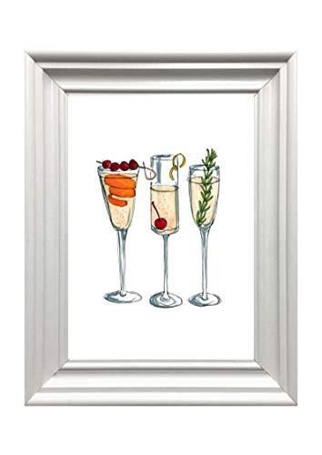 Amizou Din A4 Kunstdruck Cocktails Spirituosen Alkohol modern Geschenk Druck Poster Deko Bild