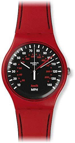 Swatch Unisex-Armbanduhr Analog Quarz Silikon SUOR104