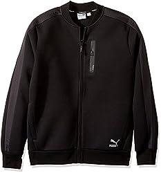 PUMA Mens Evo T7 Sweat Jacket, Puma Black, Medium