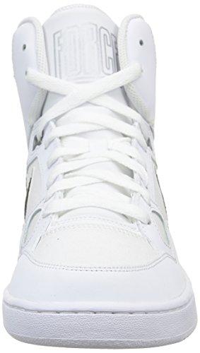 Nike Son Of Force Mid, Scarpe sportive, Uomo Bianco (Weiß (White/Black-Metallic Silver))
