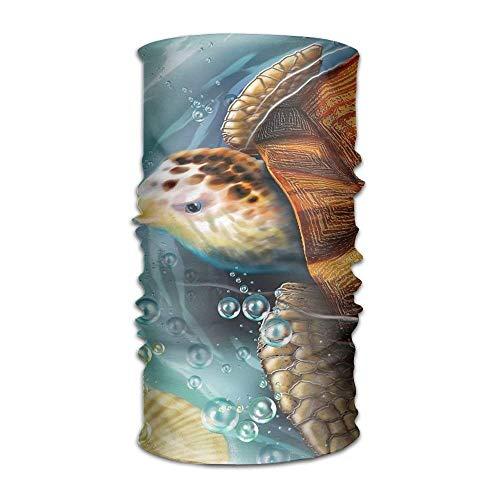 Osmykqe Kopfbedeckung Sea Turtle Outdoor Scarf Headbands Bandana Mask Neck Gaiter Head Wrap Mask Sweatband (Kopfhörer Steeler)