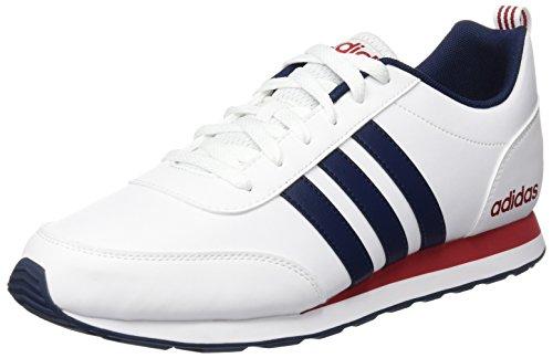 adidas Herren V Run VS Turnschuhe, Blanco (Ftwbla / Maruni / Rojpot), 44 2/3 EU