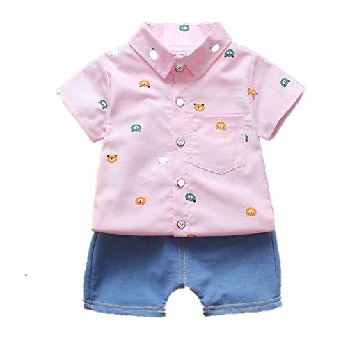 Ensembles de Bébé❤️Robemon Toddler Bébé Garçons Monsieur Style T-Shirt Tops Denim Pantalons Shorts Outfits Vêtements de Tout-Petit