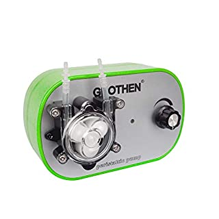 Grothen DC 12v Dosierpumpe Stark saugende, selbstansaugende Schlauchpumpe High Flow für Aquarium, Labor Chemikalien, Flüssigkeiten und andere Dosieradditive (3x5mm Tube)