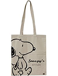 Snoopy SN3592- Bolsa de Algodón, Beige, 36 x 0,5 x 76
