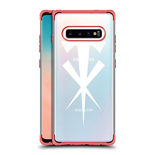 Head Case Designs Offizielle WWE Kreuz The Undertaker 2 Rote Schocksichere Fender Huelle kompatibel mit Samsung Galaxy S10+ / S10 Plus -