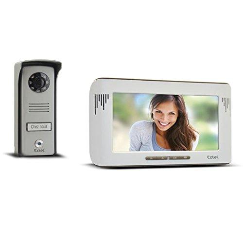 Extel 720215 Mika Videosprechanlage mit Farbdisplay, 2 Leitungen, Monitor mit 7 Zoll (18 cm)