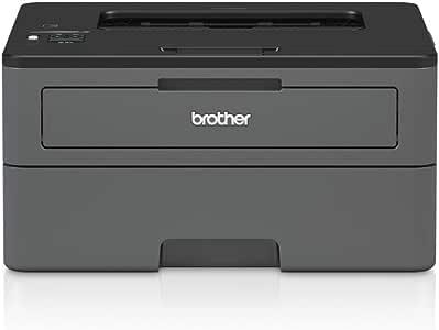 Brother HLL2375DW Stampante Laser Bianco e Nero, Velocità di Stampa 34 ppm, Stampa Fronte/Retro Automatica, Scheda di Rete Cablata, Wi-Fi, Display LCD 1 Riga