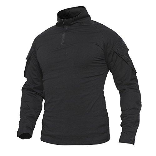 Belloo Herren Airsoft Shirt für Jag,Schwarz,M