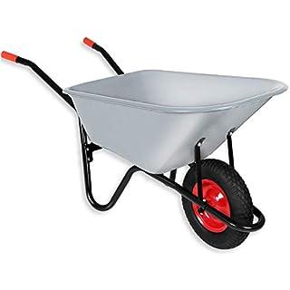 Monzana® Schubkarre 100 Liter | bis 250kg | Luftreifen mit Stahlfelge | verzinkt | Bauschubkarre Gartenschubkarre