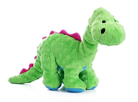 goDog Dinos Bruto with Chew Guard Technology Tough Plush Dog Toy, Large, Green