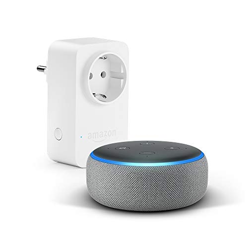 Echo Dot (3.ª generación), tela de color gris oscuro + Amazon Smart...