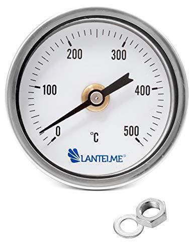 Lantelme 500 Grad Grill Öfen Thermometer Wasserdicht Rauchdicht Länge Sonde 17 cm Gewindeanschluß Analog 4325 -