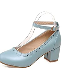 BGYHU GGX/Damen Schuhe PU Stiletto Heel Heels/Schuhe Heels Office Karriere/Casual Blau/Pink/Weiszlig;