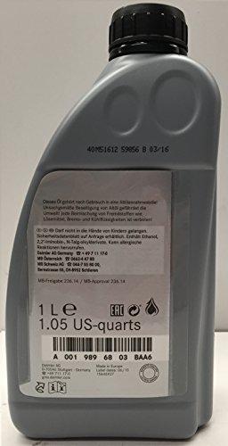Huile/Fluide de transmission automatique original de Mercedes Benz ATF 134mb236.14-5L (5x 1L)