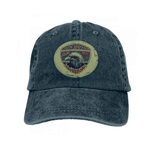Xunulyn Comfortable Baseball Caps Vintage Denim Typography Grunge Artwork Apparel Stamp wear p Navy