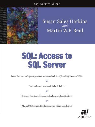 SQL: Access to SQL Server by Susan Sales Harkins (2002-01-28) par Susan Sales Harkins;Martin W.P. Reid