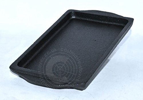 Rectanglular Cast Iron Cookware Roasting Baking Tray Pan Oven Serving Dish Plate 21 x 11.5cm