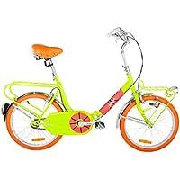"Graziella style Bici 20"" iVel Garage Giallo Flou Pieghevole Custom Vintage"
