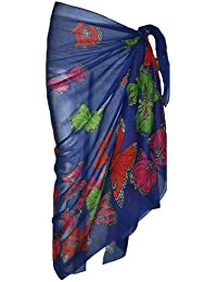 Royal Blue Sarong with Butterfly Design