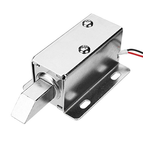 ChaRLes 24V Dc Electric Lock Assembly Solenoid Long Locking Tongue Cabinet Drawer Door Lock