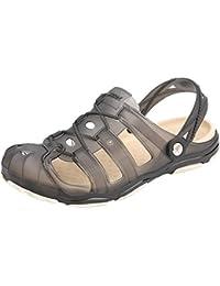Xing Lin Sandales Pour Hommes Coupler Modèles Chaussures Sandales Chaussures Air Été Plage Baotou Manchon Creux Télévision Avec 39 Red Rose
