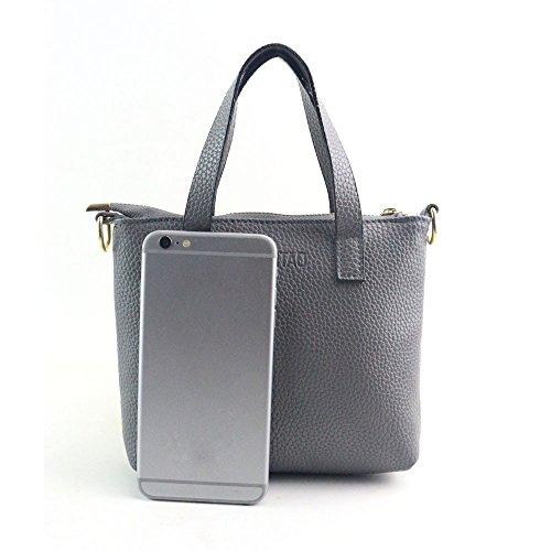 Kapian-D Damen Mode Handtasche Umhängetasche Tote Geldbörse Einfarbige Schultertasche Messenger Bag Kawaii Ledertasche e Shopper Citytasche - Echtleder-plattform