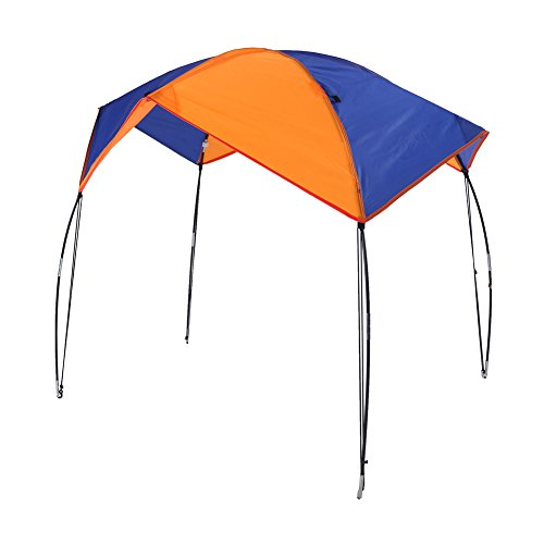 VGEBY Zelt Faltbare Baldachin für Schlauchboot und Camping 2-4 Personen Tragbares Boot Zelt Sonnenschutz Canopy Markise (4 Persons)