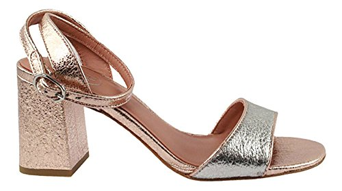 ASH Quartz | Sandalette - silber | rose gold Silber