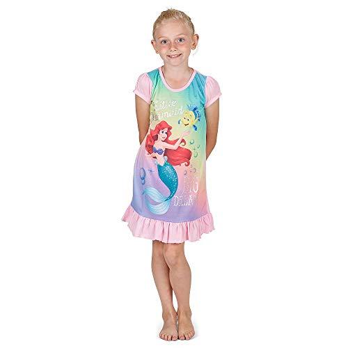 Meerjungfrau Disney Prinzessin Kostüm - Disney Princess & Tv Character Mädchen Nachthemd Mit König Der Löwen, Aladdin, Cinderella, Paw Patrol, Little Mermaid | Kindernachtwäsche Mit Prinzessinnen (9/10 Jahre, Arielle die Meerjungfrau)