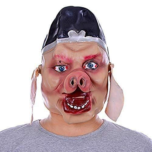 Tier Horror Schwein Kopf Maske Halloween Cosplay Kostüm Voller Kopf Scary Schwein Latex Maske Maskerade Dress Up Requisiten Party Parodie - Schwein Kopf Kostüm Maske